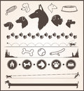 Dog design elements set of various themed Royalty Free Stock Photography