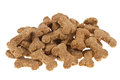 Dog food isolated on white Royalty Free Stock Photography