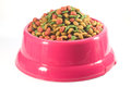 Dog food pic of in bowl Royalty Free Stock Photos