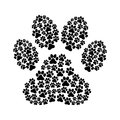 Dog footprint over white background vector illustration Royalty Free Stock Photography