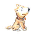 A dog. funny character children& x27;s picture