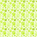 Dog Green Footprints Seamless Pattern
