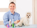 Dog grooming Royalty Free Stock Photo