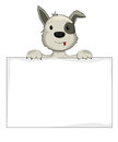 Dog holding banner illustration of a Royalty Free Stock Images
