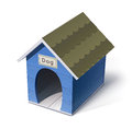 Dog house vector illustration on white background eps transparent objects and opacity masks used for shadows and lights drawing Royalty Free Stock Photo