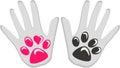 Dog Human love friendship Royalty Free Stock Photo