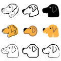 Dog icons set Royalty Free Stock Photos