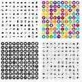 100 dog icons set vector variant Royalty Free Stock Photo