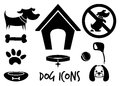 Dog icons vector illustration of the Stock Images