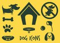 Dog icons vector illustration of the Stock Photos