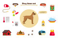 Dog Items Set Care Object And ...