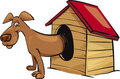 Dog in kennel Stock Photo
