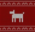 Dog on knitting pattern, Happy new year, vector illustration Royalty Free Stock Photo