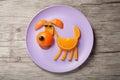 Dog made of juicy orange Royalty Free Stock Photo