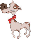Dog miniature pinscher cartoon the little doggie with a red scarf on necks Stock Photo