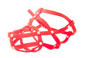 Dog muzzle plastic color red Stock Photography