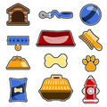 Dog Object Icon Set