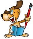 Dog Painter Royalty Free Stock Photo