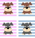 Dog pattern Royalty Free Stock Photos