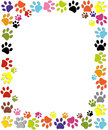 Dog paw print made of red heart vector illustration Royalty Free Stock Photo