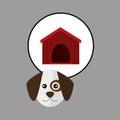Dog pet cartoon, Animal design. vector illustration Royalty Free Stock Photo