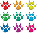 Dog's foot prints Royalty Free Stock Photography