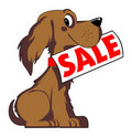 Dog sale Stock Photo