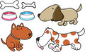 Dog Set Vector Stock Image