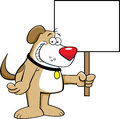 Dog with a sign Stock Image