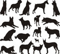 Dog silhouette vector Stock Image