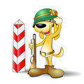 Dog soldier illustration Royalty Free Stock Images