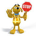 Dog stop sign Royalty Free Stock Photo
