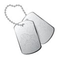 Dog tag tags isolated on white background Stock Photos