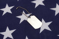 Dog tags with american flag on Royalty Free Stock Images