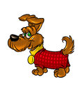Dog terrier illustration funny cartoon tone Stock Image