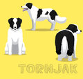 Dog Tornjak Cartoon Vector Illustration