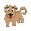 Dog vector illustration character colour Stock Photos