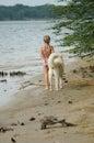 Dog Walk Stock Image