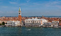 Doge palace san marco campanile venice italy the palazzo and piazza in venezia italia Stock Images