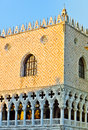 Doge palace on the san marco venice of of venezia in evening sun Stock Photography