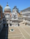 Doge s palace courtyard in venice view of the palazzo ducale the north side of the is closed by the junction between the Royalty Free Stock Photos