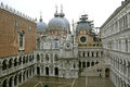 Doge`s Palace Palazzo Ducale - Venice. ITALY. Royalty Free Stock Photo
