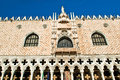 Doge s palace in venice sunrise detail on san marco square early the morning Royalty Free Stock Photos