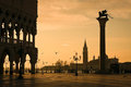 Doges Palace at dawn in Venice Royalty Free Stock Photo