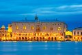 Doges Palace and Ponte dei Sospiri, night, Venice Royalty Free Stock Photo