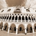 Doges palace in Venetian-style architecture in Venice Royalty Free Stock Photo