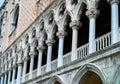 Doges Palace Venice Italy Columns Royalty Free Stock Photo