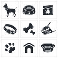 Doggy icon collection icons set on a white background Stock Photography