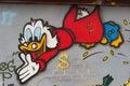 Dogobert Duck - Scrooge McDuck - Street Graffiti Royalty Free Stock Photo