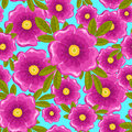 Dogrose seamless blue pattern. Stock Photography